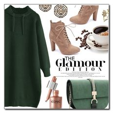 """Hooded Sweater Dress Z"" by fashion-pol on Polyvore featuring Wild Diva"