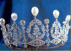 The Duchess of Alba's Pearl and Diamond Tiara originally the Empress Eugenie de Montijo's tiara