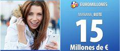 ¡Bote de 15 millones de euros! No es un bote muy alto pero pensándolo fríamente, si toca con 15 millones de euros se pueden hacer realidad todos tus sueños y los de mucha gente...