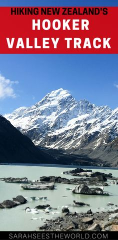 On the Hooker Valley Track in Mount Cook National Park in New Zealand, every corner you turn the scenery changes completely. At the end of the hike you reach some amazing views of the glacier, a lake and Mount Cook.