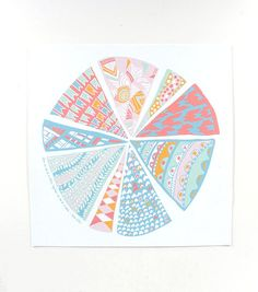 Pattern Pieces Print II by thimblepress on Etsy, $20.00