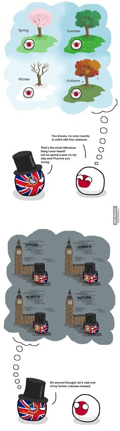 """Four Seasons"" ( Japan, UK )  by peritektikum  #polandball #countryball #flagball"