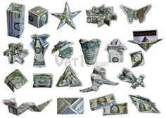 Money Origami Set: Learn to create 21 origami designs using only money.