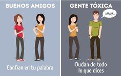 10 Diferencias entre los buenos amigos y la gente tóxica.