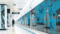 Blue design | glass foil window film decal