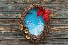 Pikczer For Ticzer: Wianek z widokiem Wreath with winter landscape