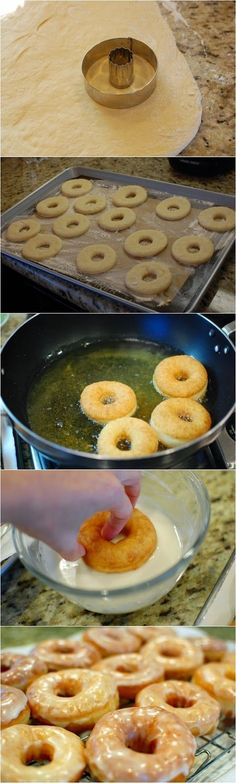 Easy Homemade Glazed Doughnuts