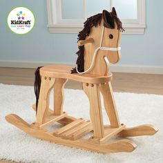 A classic wooden rocking horse for a traditional family!