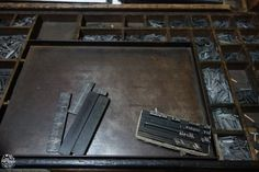 Letterpress printing method, the galley. Amazing work of the typesetter in Port-Louis, Mauritius