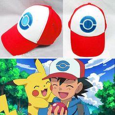 Hot Pocket Monster Pokemon Trainer Ash Ketchum Baseball Cap Cosplay Hat Costume