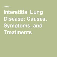 Natural Cure For Interstitial Lung Disease