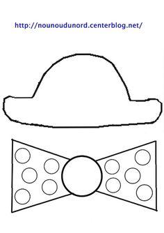 Gabarit chapeau et noeud et gommettes dessiné par nounoudunord Imprimer les fichiers: .acrobat.com **************** *Mardi gras, carnaval * Découvrez nos Activités cliquez: .ici. ...