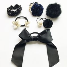 6Pcs/Set Elastic Rope Hair Ties Gum For Women Girls Hair Accessories Rubber Rope Bowknot Ponytail Holder Hair Styling Tools