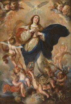 The Immaculate Conception / La Inmaculada Concepción // Hacia 1660// Mateo Cerezo // #VirginMary #VirgenMaría