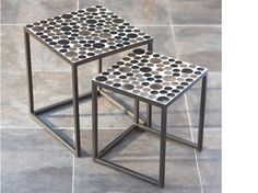 Cinum Nesting Tables - Gd/Bk $119.00 Scandinavian Designs