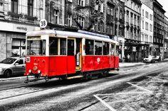 Zabytkowy tramwaj w Bytomiu