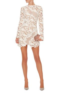 3D Floral Mini Dress by SELF PORTRAIT Now Available on Moda Operandi