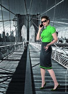 Simone Weghorn  - Modedesign; Jagdcouture, Kostüm, Grün, Schwarz, Ärmel, Trachtenstil