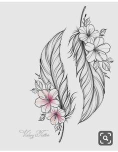 Grandpa and Grandma tattoos diy tattoo images - Grandpa and Grandma tattoos You are in the right place about Grandpa and Grandma - Tattoo Oma, Diy Tattoo, Clock Tattoo Design, Feather Tattoo Design, Indian Feather Tattoos, Feather Drawing, Flower Tattoo Designs, Love Tattoos, Body Art Tattoos