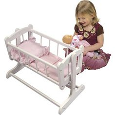 Badger Basket Company Heirloom Doll Cradle