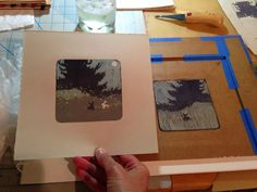 Reduction Linocut Printed in Four Colors without a Press - Belinda Del Pesco Linoleum Block Printing, Channel Art, Wood Engraving, Linocut Prints, Ink Color, Simple Designs, Printmaking, Art Quotes, Printed