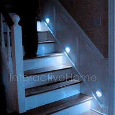 Smart home. Stair Lighting, Lighting System, Smart Home, Stairs, Neon Signs, Home Decor, Smart House, Stairway, Decoration Home