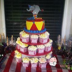 Gallery - Nann's Cupcake Kitchen Circus Themed Cupcake tower.