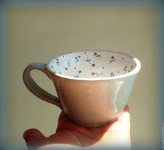 Buy calico cup turquoise ceramic - List of the most creative DIY and Crafts Ceramic Cups, Ceramic Pottery, Pottery Art, Ceramic Art, Pottery Painting, Ceramic Painting, Rock Painting, Coffee Cups, Tea Cups