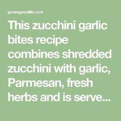 This zucchini garlic bites recipe combines shredded zucchini with garlic, Parmesan, fresh herbs and is served with a marinara sauce for an Italian twist. Zuchinni Recipes, Vegetable Recipes, Vegetarian Recipes, Cooking Recipes, Recipe Zucchini, Healthy Cooking, Appetizer Dips, Yummy Appetizers, Appetizer Recipes