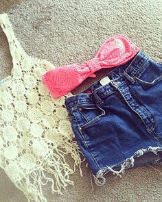 crocheted flower fringe tank top