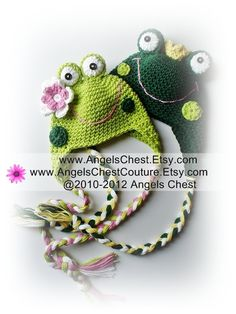 crochet pattern : frog hats