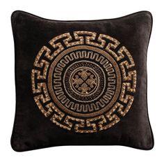 """Aztaro Meandros Zardosi Cushion 17"""" x 17"""""""