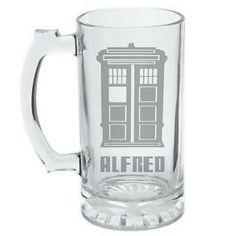 Personalized Doctor Who Tardis Mug - Wedding party gift idea.