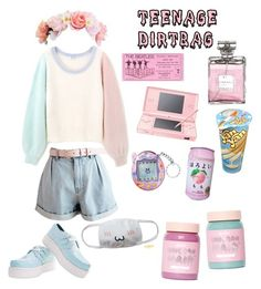 """""""KAWAII"""" by saturnalfie on Polyvore featuring Nintendo and Lime Crime"""