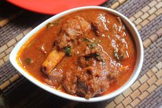 Mutton Masala is a tangy and very popular party recipe. A spicy lamb curry that goes with rice or any tiffin variety. Mutton masala is a dish with fried marinated pieces of mutton that taste and smell amazing after you garnish them with coriander leaves. Lamb Recipes, Veg Recipes, Curry Recipes, Indian Food Recipes, Cooking Recipes, Ethnic Recipes, Vegetarian Recipes, Healthy Recipes