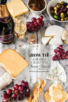 How to Assemble a Beautiful Cheese Board | Olivia Cuisine