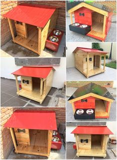 Easy and fresh diy wood pallet ideas pallet dog house / bed Pallet Dog House, Pallet Dog Beds, Dog House Bed, Dog House Plans, Pallet Crafts, Diy Pallet Projects, Pallet Ideas Easy, Cool Dog Houses, Dog Furniture