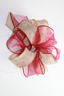 embroitiquecom how to make big decorative bows a really easy tutorial burlap - Christmas Decorations Bows
