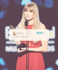 this is what she tweeted after she got the billboard woman of the year award (:
