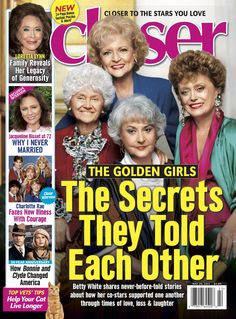 Magazine photos featuring The Golden Girls on the cover. The Golden Girls magazine cover photos, back issues and newstand editions. Editing Websites, Charlotte News, List Of Magazines, On Golden Pond, Loretta Lynn, Girls Magazine, Betty White, Dolly Parton, Golden Girls