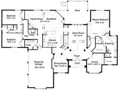 Floor Plan - potential - change dining to library and library to media room