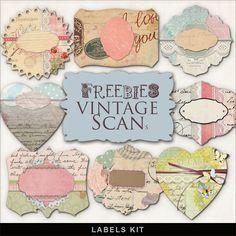 Freebies Kit of Romantic Labels
