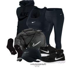 """All Black Nike Workout"""