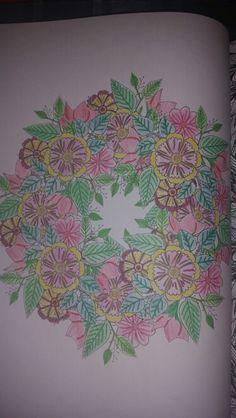 Kleurplaat bloemen 'mandela', kleurboek Action