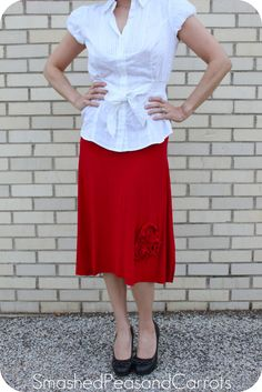 versus: The Everything's Coming Up Roses Skirt by Guest Maggie of Smashed Peas & Carrots
