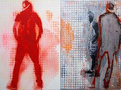 Robert Boynes, 'Blood Loyalty' 2013, acrylic on canvas - diptych, 120 x 160cm