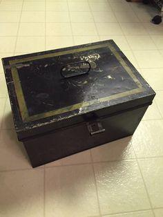 Vintage Metal Box Vintage Lockable Storage Box by RetroUrbanWares
