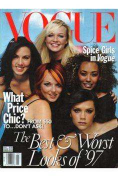 vogue spice girls cover Flashback: Victoria Beckhams Style as Posh Spice Spice Girls, Vogue Magazine Covers, Vogue Covers, Vogue Uk, Mtv, Beyonce, Rihanna, Thurn Und Taxis, Divas