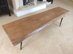 Live edge coffee table-medium oak- Etsy