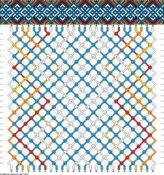 Muster # 44608, Streicher: 26 Zeilen: 24 Farben: 5